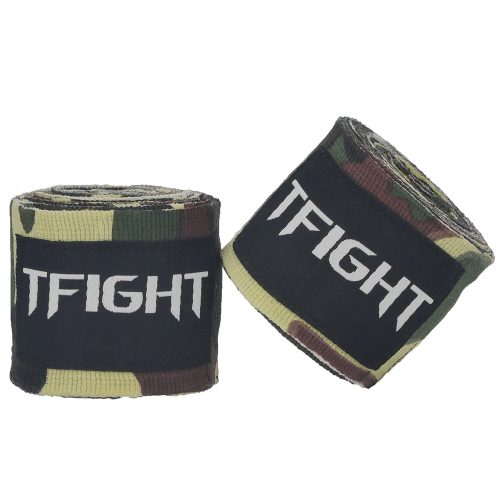TFIGHT HANDWRAPS CAMO GREEN 1