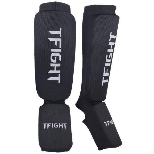 TFIGHT PROTEKT ELASTIC SHIN GUARDS BLACK