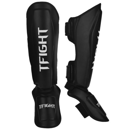 TFIGHT TECHNIKO SHIN GUARDS BLACK WHITE 1